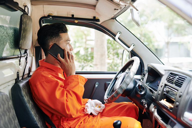 van-driver-talking-on-phone