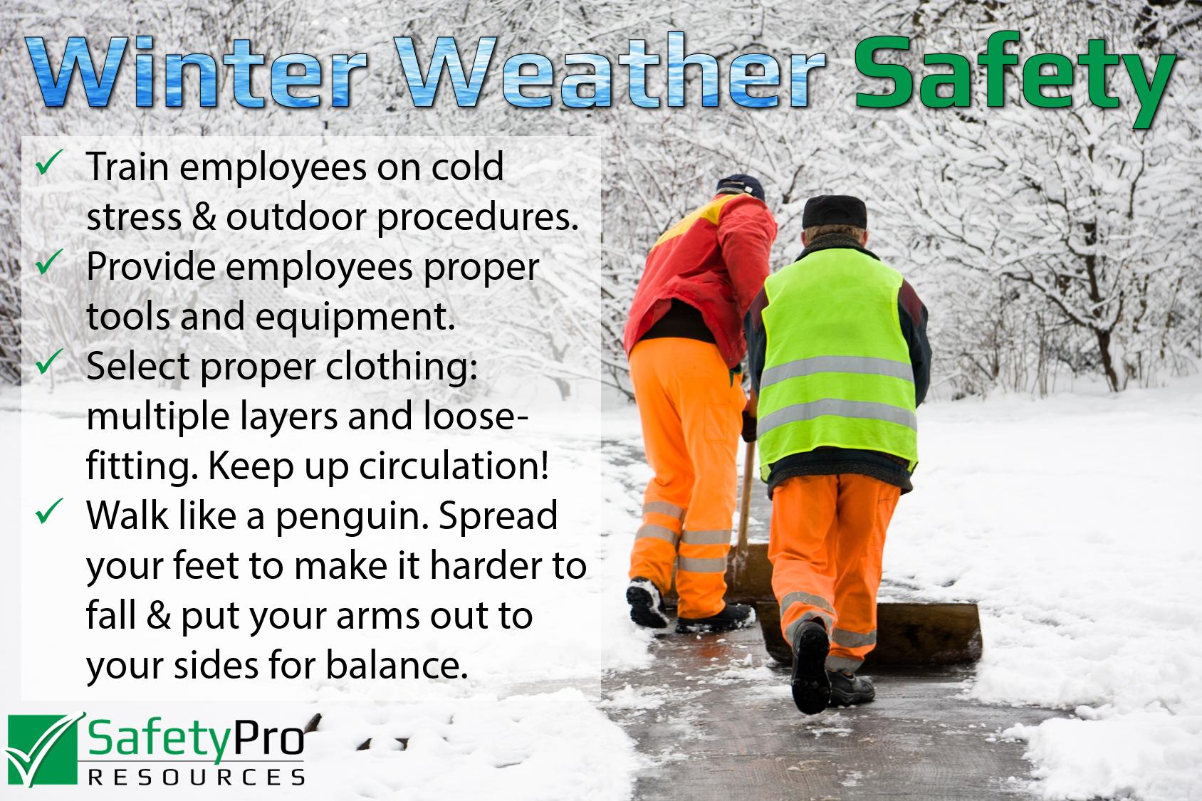 Winter Weather SPR Tips
