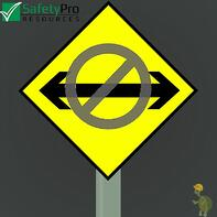 You can't have it both ways image of sign with arrow with a no symbol across it