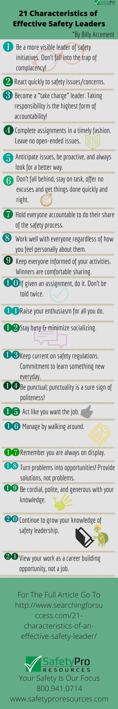 21 Characteristics of effective safety leaders
